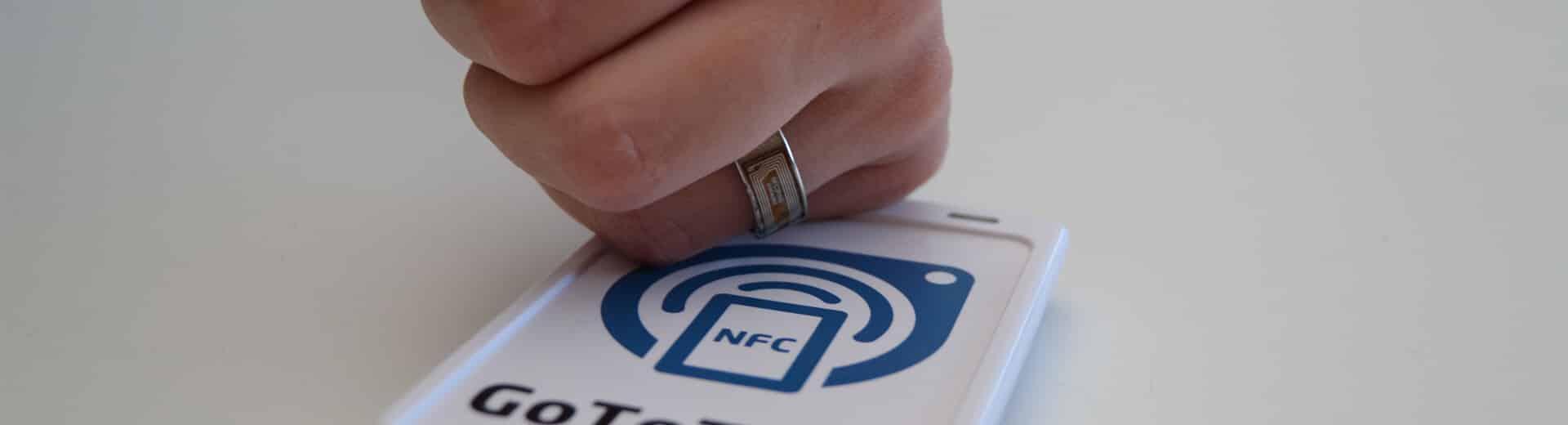 Application tactile NFC échange de données