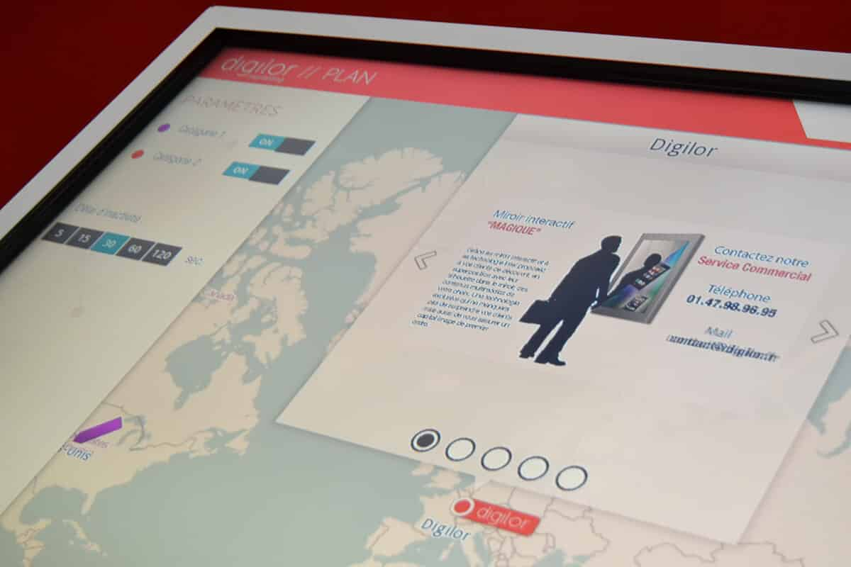 Multitouch Maps présentation carte mondiale