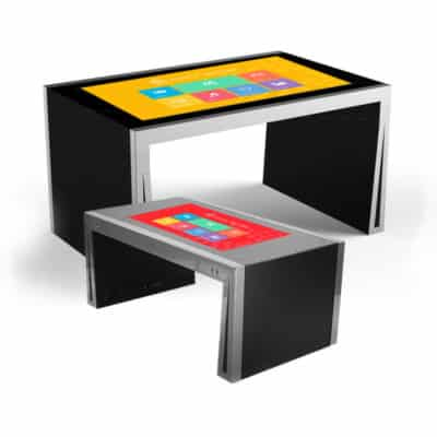 Table basse tactile 43 pouces interactive multitouch noir