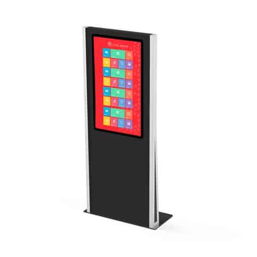 Totem tactile 43 pouces interactif multitouch noir