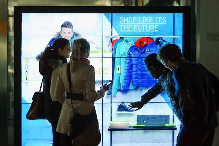 Vitrine tactile interactive point de vente