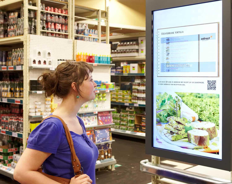 Digital Instore Signage affichage dynamique grande distribution
