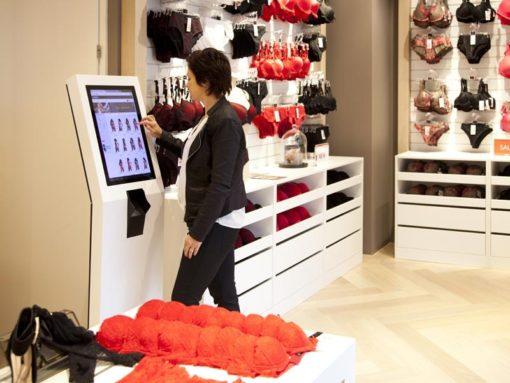 Borne tactile de paiement magasin