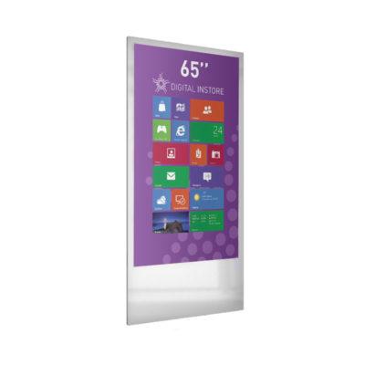 Totem digital 65 pouces magasin point de vente