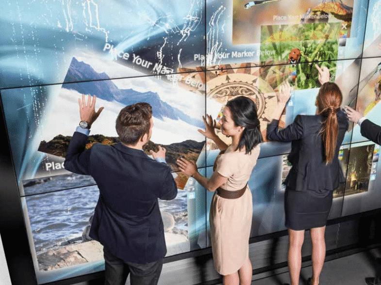 Mur tactile interactif Siemens Autriche