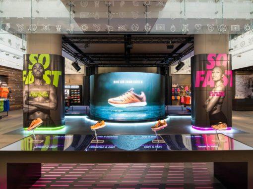 Nike repense tous ses flagships en véritables showrooms technologiques