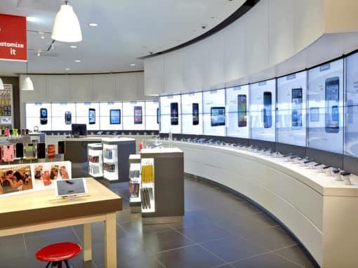 La découverte du smartphone par mur tactile chez Verizon