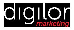 Logo blanc Digilor Marketing