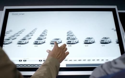 Image de marque digital borne interactive totem multitouch