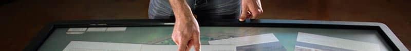 Borne tactile 32 pouces multitouch