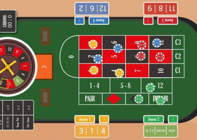 Jeu application tactile casino roulette