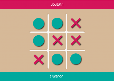 Jeu application tactile tic tac toe