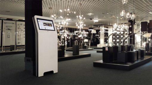 Borne digitale 22 pouces luxe