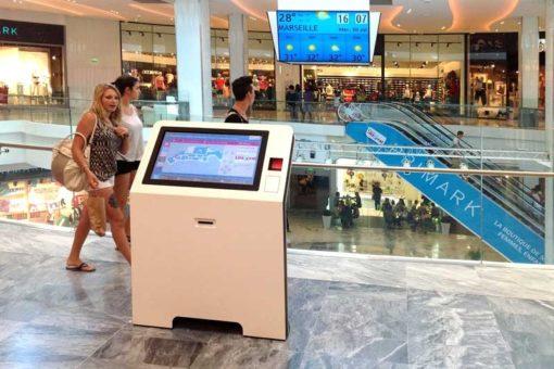 Borne digitale 32 pouces centre commercial
