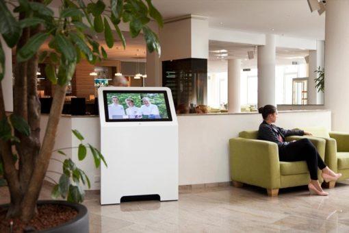 Borne digitale 32 pouces réception accueil