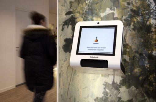 Borne interactive murale 22 pouces réception accueil