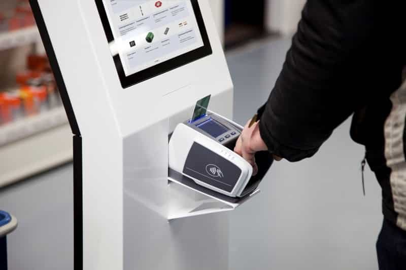 borne tactile interactive de paiement
