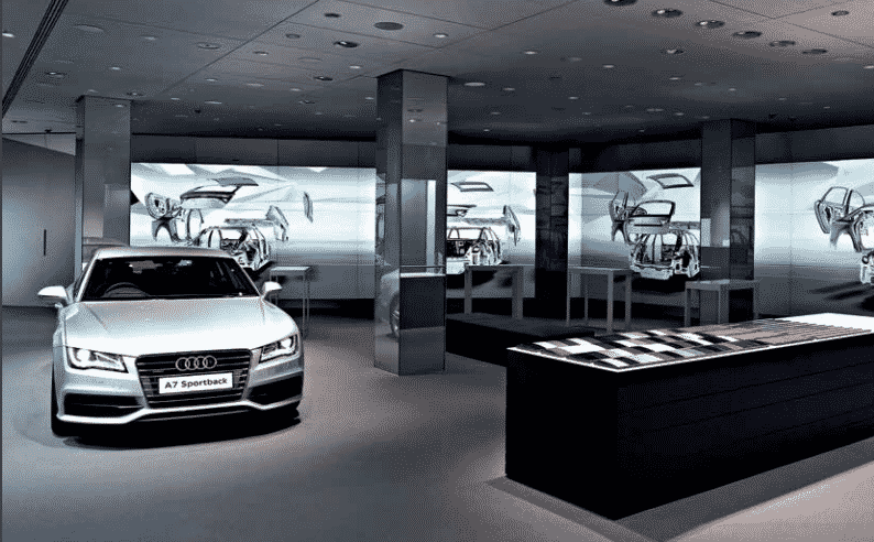 Table tactile multitouch Audi Allemagne