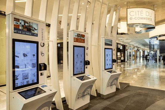 Centre commercial numérique digital