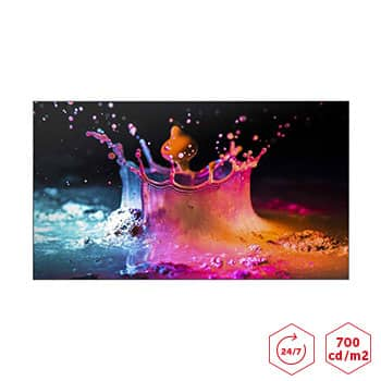 Ecran pour mur images SAMUNG UD55EA