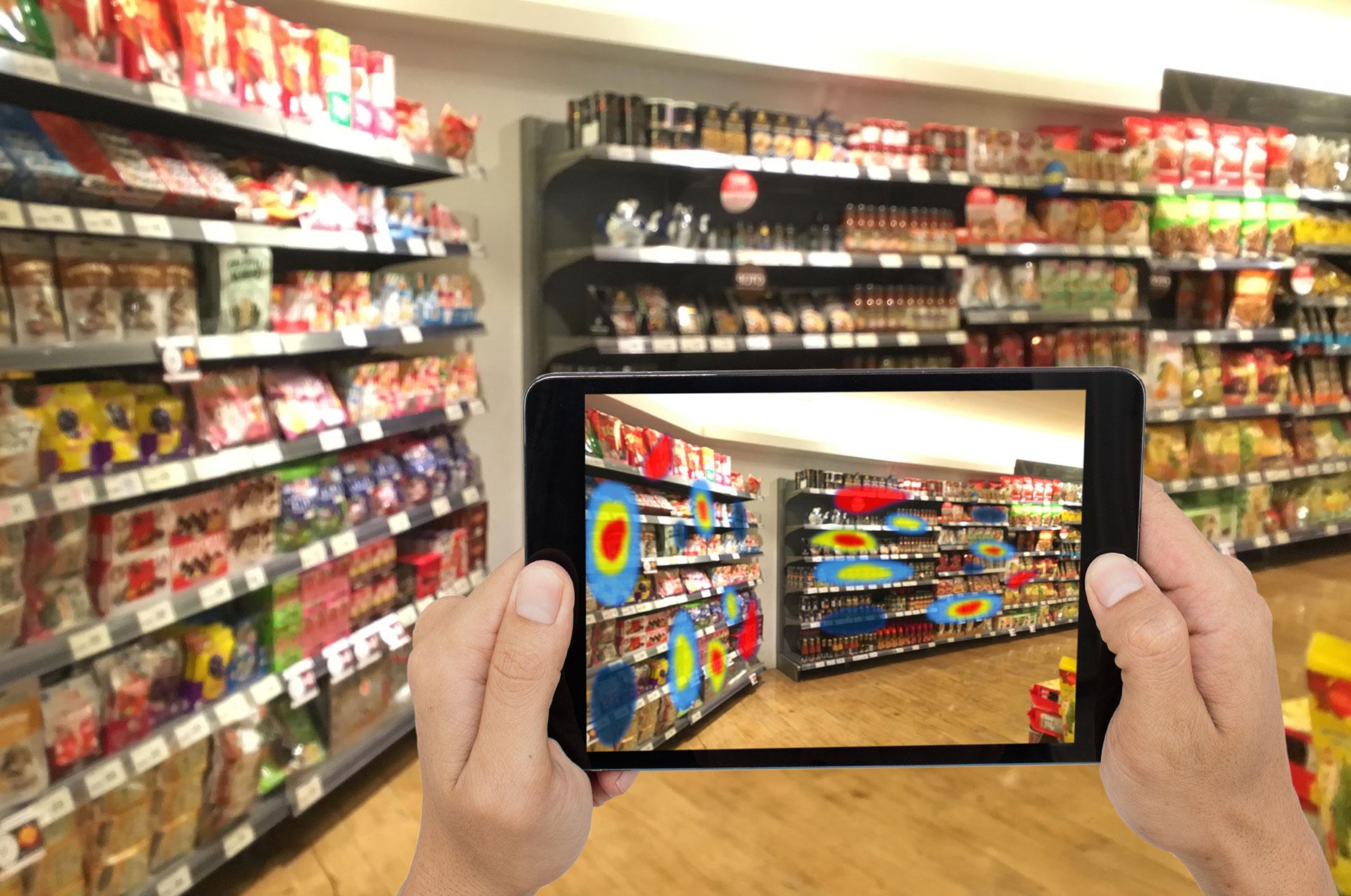 digitalisation des rayons de supermarchés