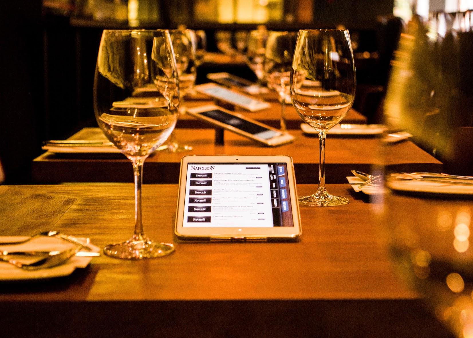 restaurant digital tablette tactile pour prise de commande