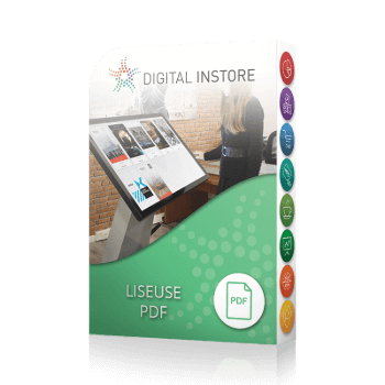 application tactile interactive liseuse pdf