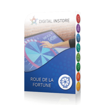 application tactile interactive roue de la fortune