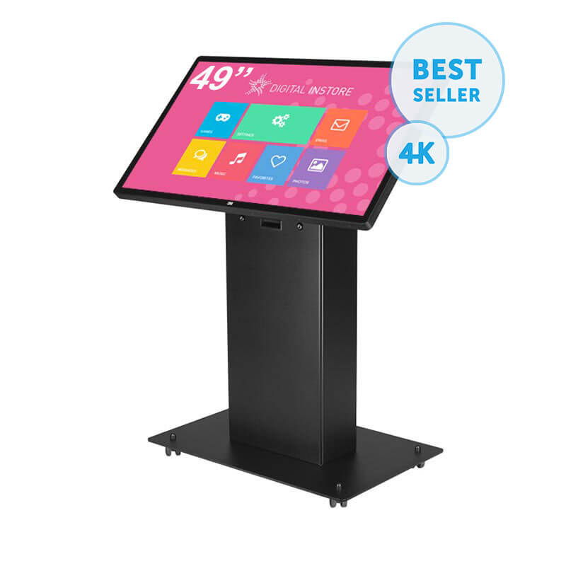 borne tactile 49 pouces interactive multitouch