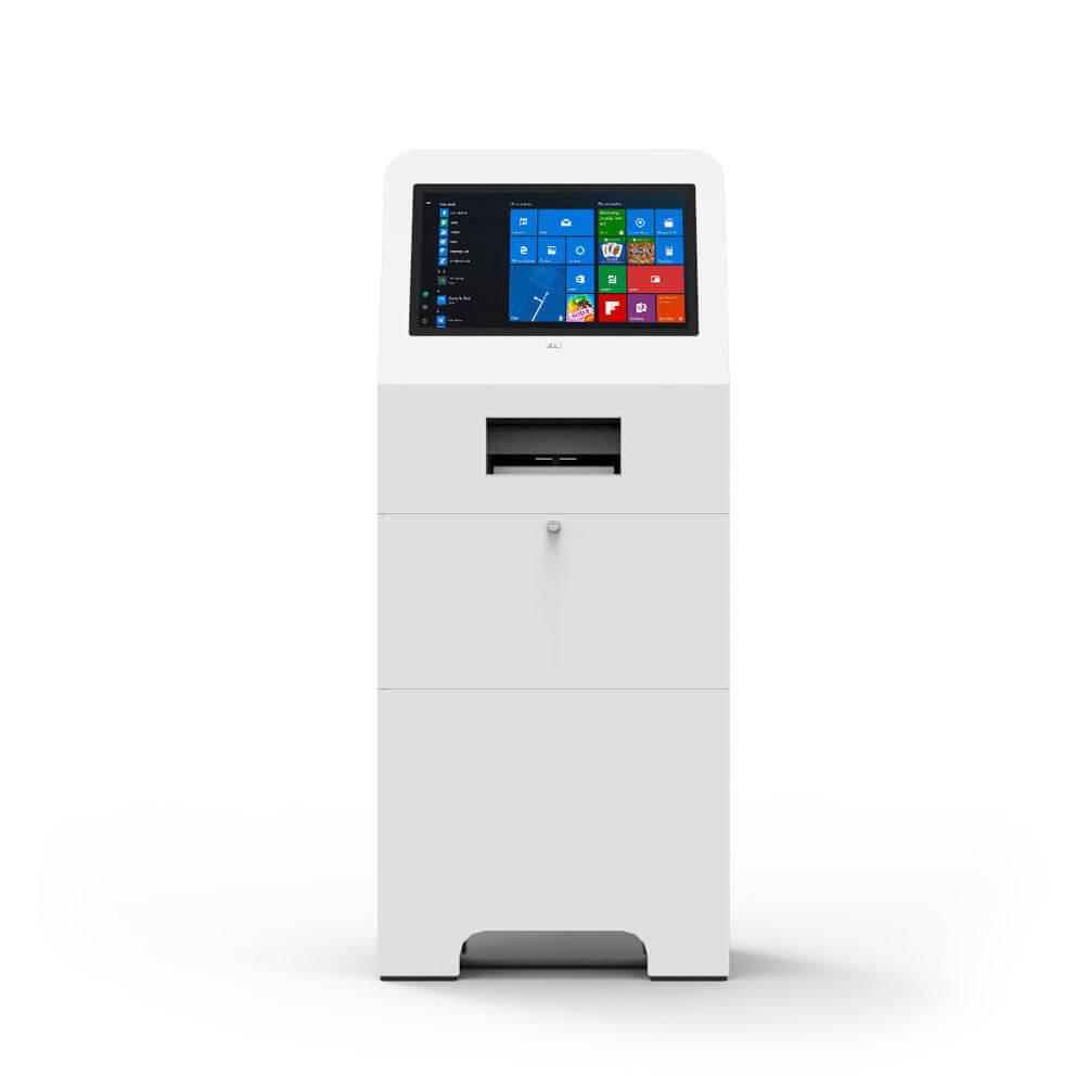 borne tactile interactive avec imprimante 22 pouces