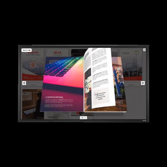 Ecran 49 pouces tactile interactif location événement