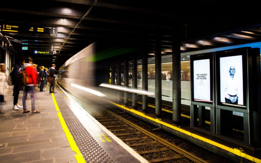 Digitalisation métro, affichage dynamique