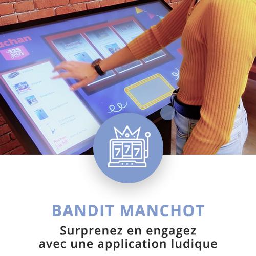 application tactile interactive bandit manchot