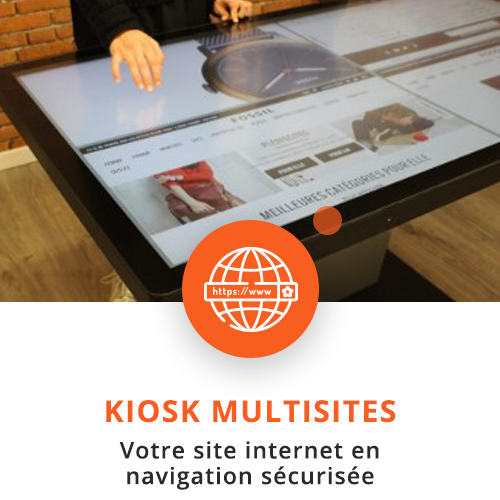application tactile interactive kiosk multisites