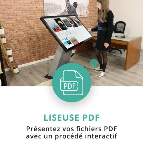 application tactile interactive liseuse pdf