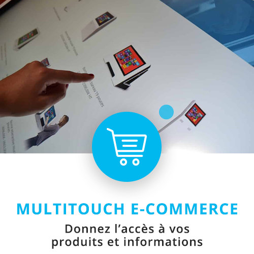 application tactile interactive e-commerce