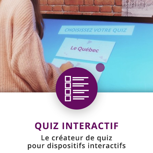 application tactile interactive quiz