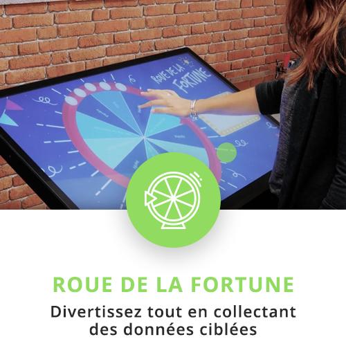 application tactile interactive roue de la fortune