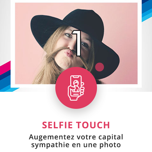 application tactile interactive selfie touch