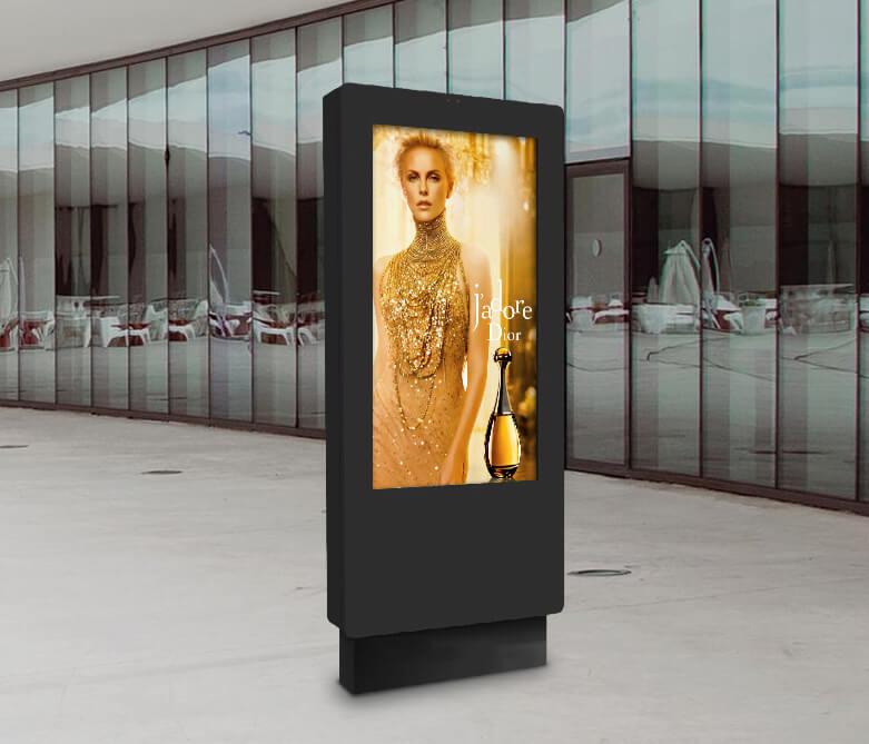 Borne interactive avec écran tactile 12 touches