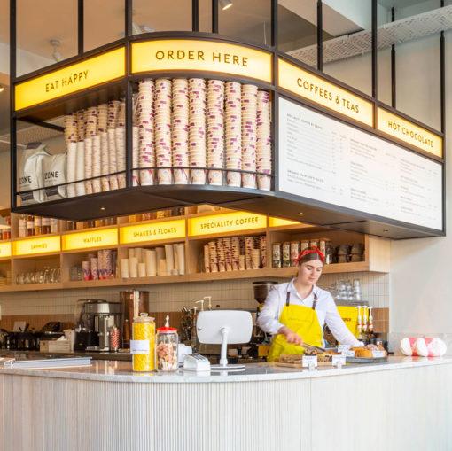 Support tablette tactile comptoir restaurant
